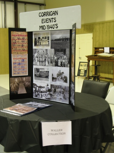 Waller Collection historical display table