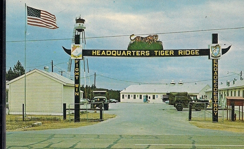 Headquarters of Tiger Ridge Cantonment Area located on Peason Ridge Military Reservation. (Rickey Robertson Collection)