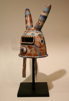 """Bunny Warrior Helmet"" by John Donovan"